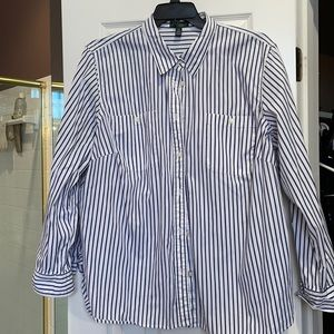 3x classic Ralph Lauren blue n white cotton shirt